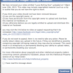 Facebook Copyright Notice